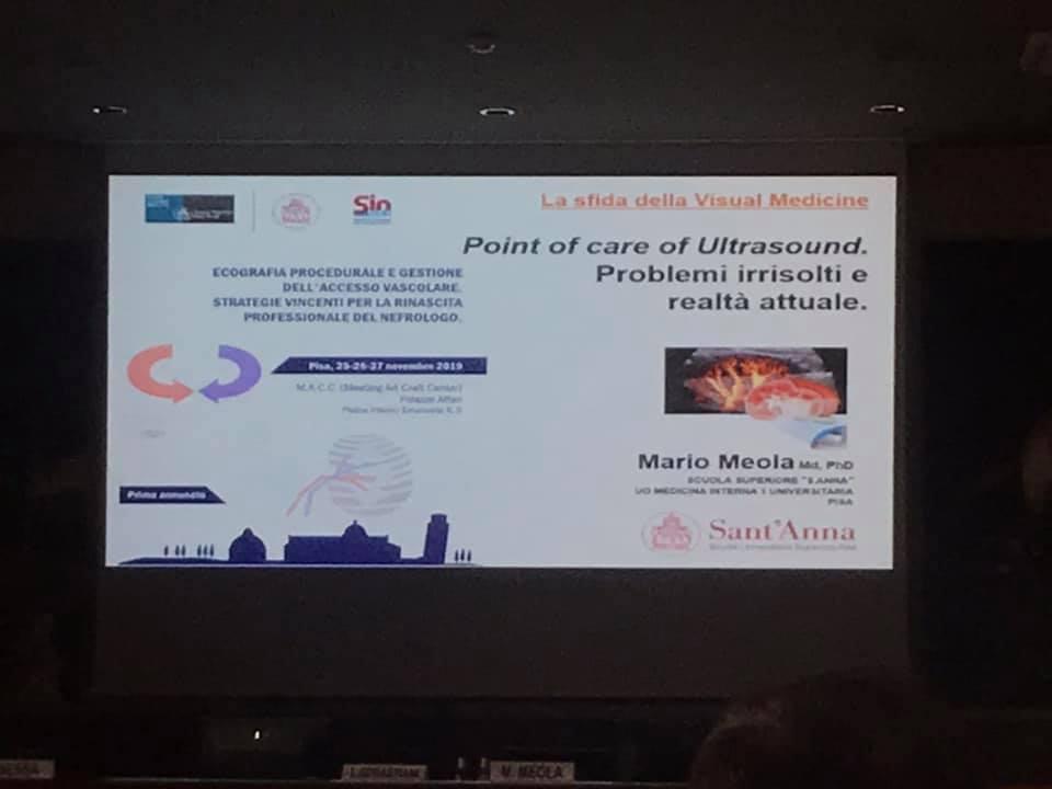 Ecografia procedurale e gestione dell'accesso vascolare – Pisa