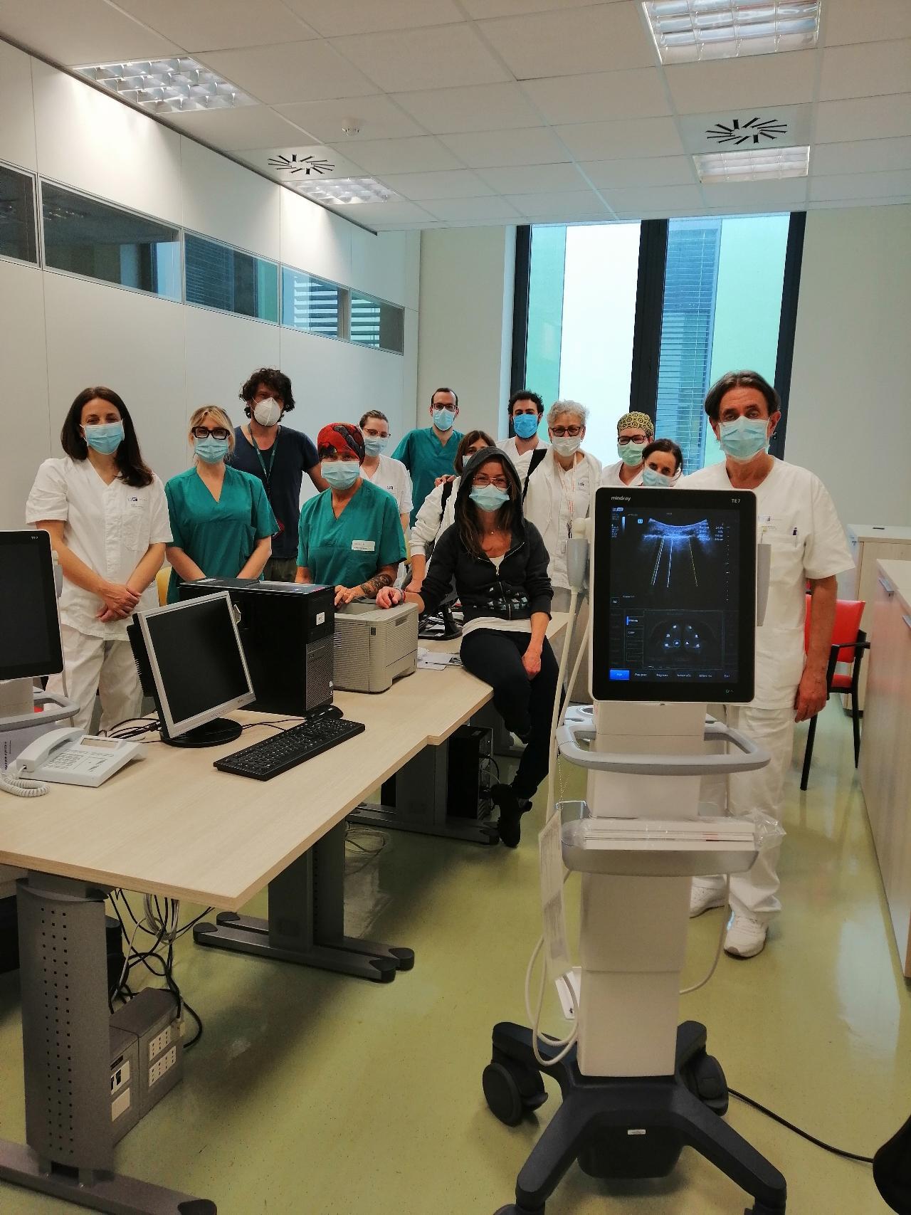 Mindray TE7ACE all'Ospedale di Pistoia