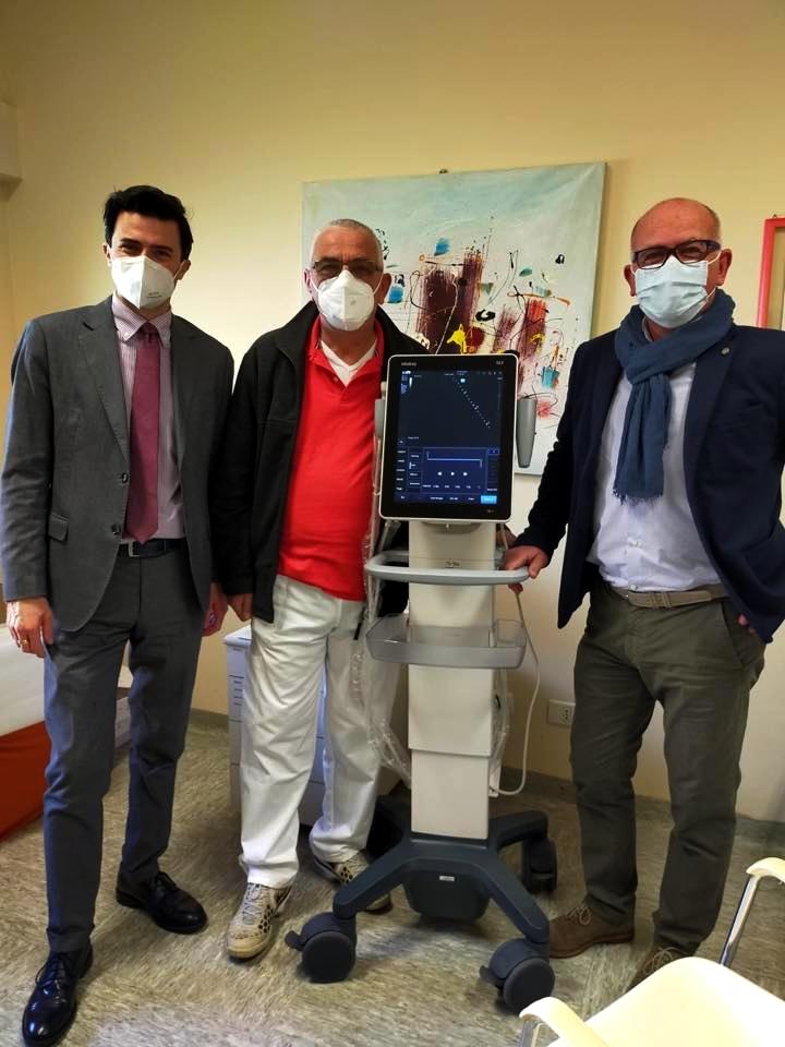 Installazione Mindray TE7ACE all'ospedale di Sarzana.